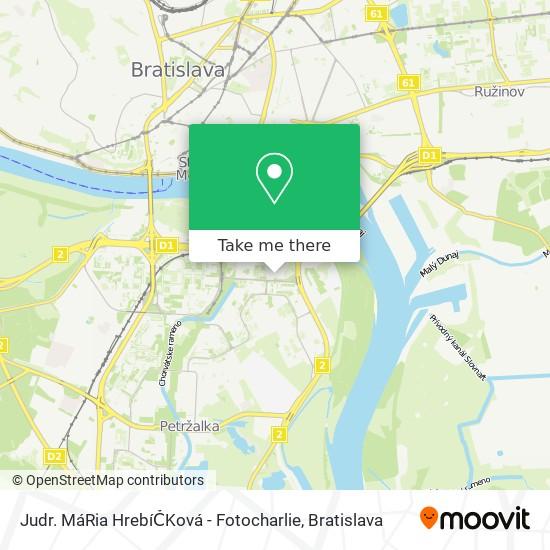 Judr. MáRia HrebíČKová - Fotocharlie map