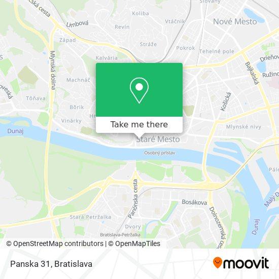 Panska 31 map