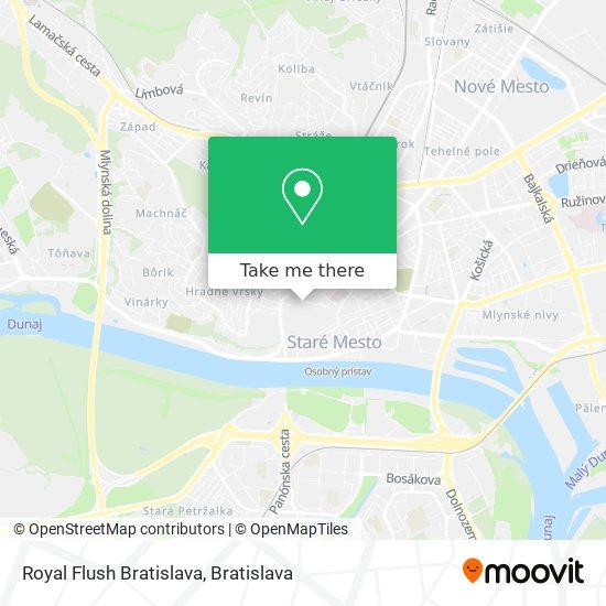 Royal Flush Bratislava map