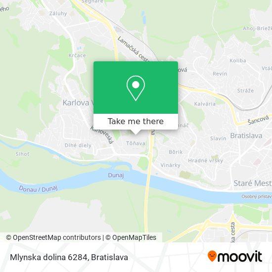 Mlynska dolina 6284 map