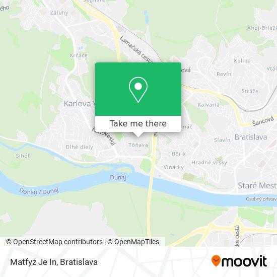 Matfyz Je In map
