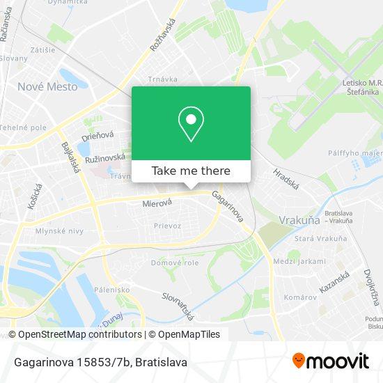 Gagarinova 15853/7b map