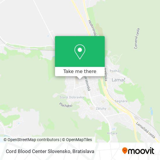 Cord Blood Center Slovensko map