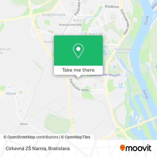 Cirkevná ZŠ Narnia map