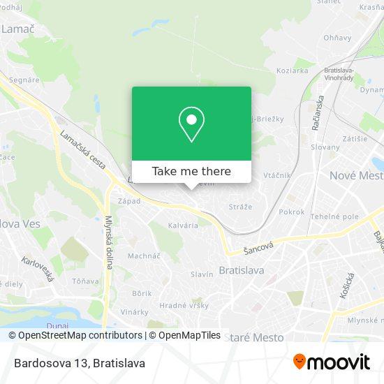 Bardosova 13 map