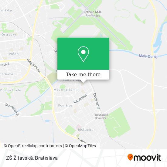 ZŠ Žitavská map