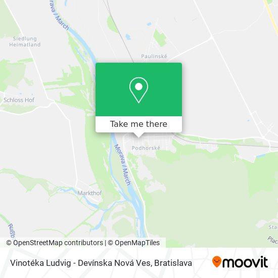 Vinotéka Ludvig - Devínska Nová Ves mapa