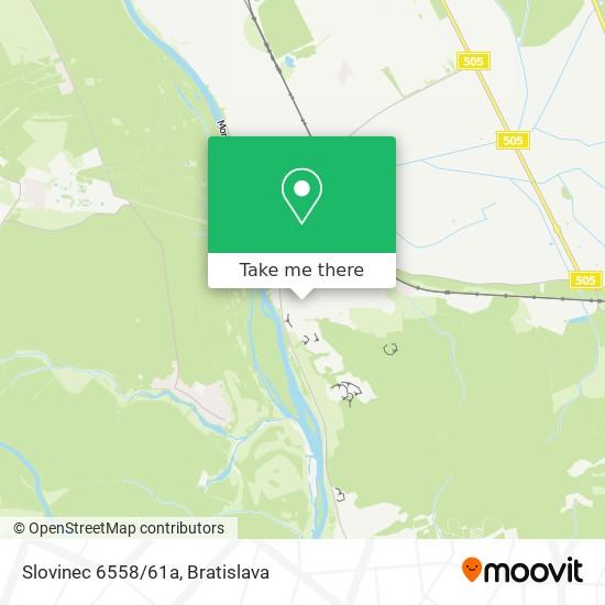 Slovinec 6558/61a mapa