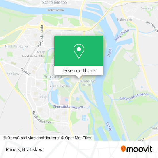 Rančík mapa