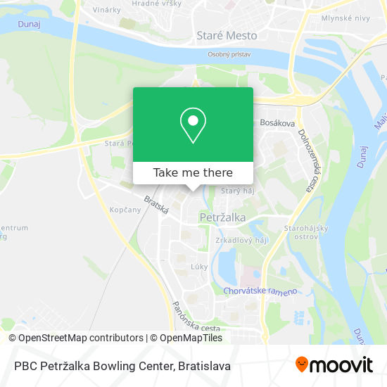 PBC Petržalka Bowling Center mapa