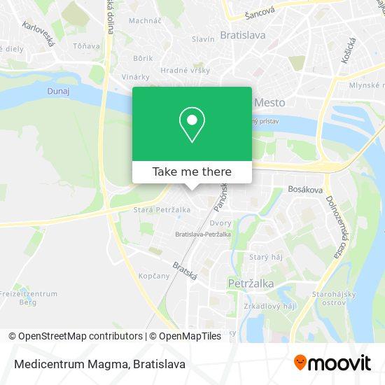 Medicentrum Magma map