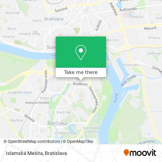 Islamská Mešita map