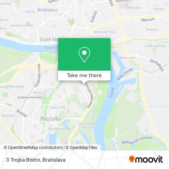 3 Trojka Bistro map