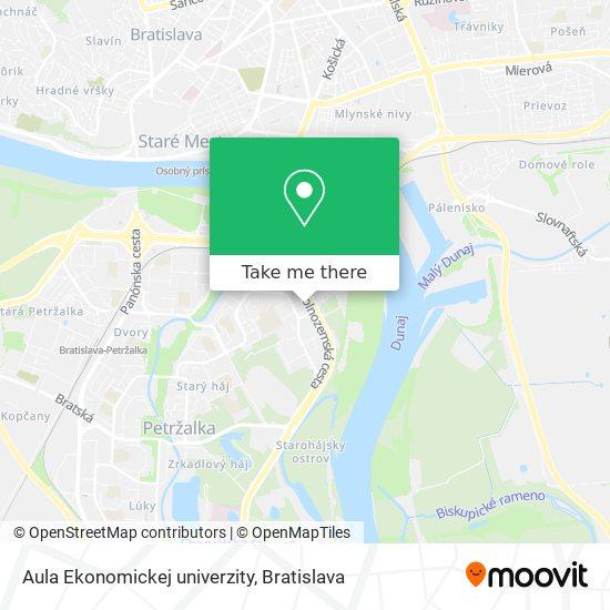 Aula Ekonomickej univerzity map