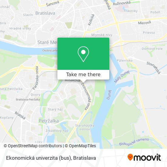 Ekonomická univerzita (bus) map