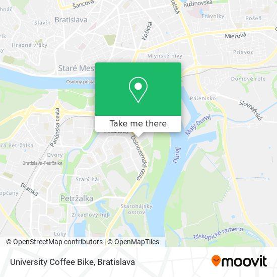 University Coffee Bike map