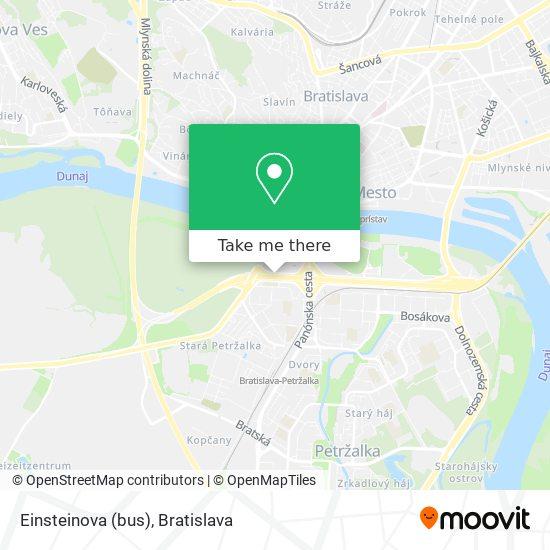 Einsteinova (bus) map