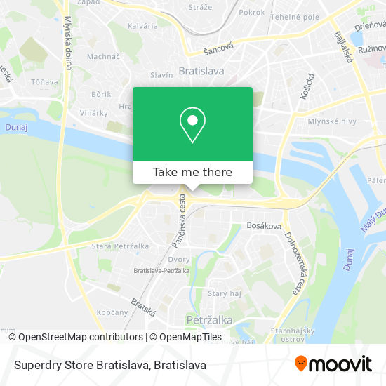 Superdry Store Bratislava map