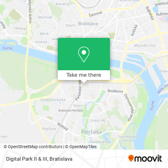 Digital Park II & III map