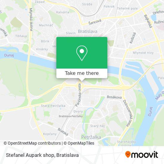Stefanel Aupark shop map
