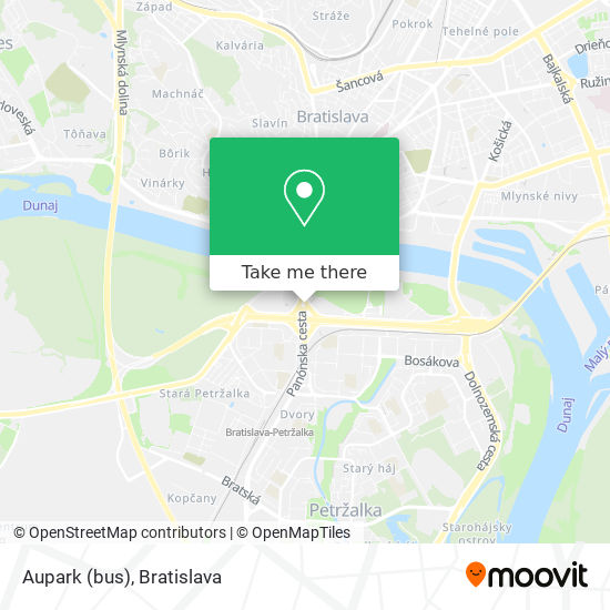 Aupark (bus) map