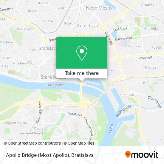 Apollo Bridge (Most Apollo) map