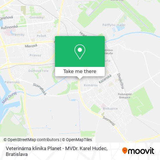 Veterinárna klinika Planet - MVDr. Karel Hudec map