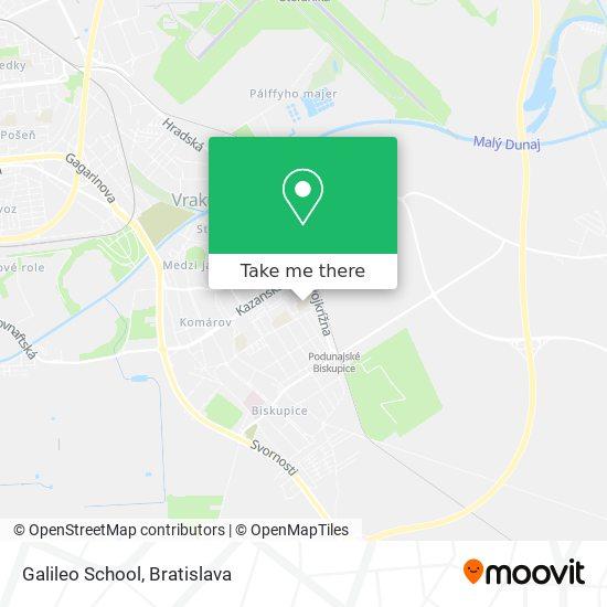 Galileo School map
