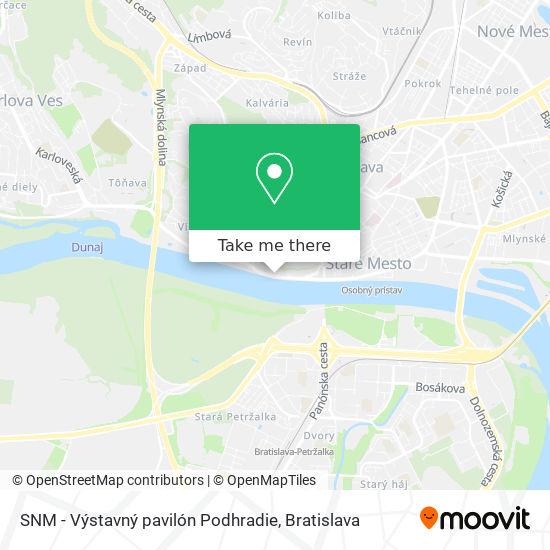 SNM - Výstavný pavilón Podhradie map