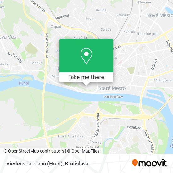 Viedenska brana (Hrad) map
