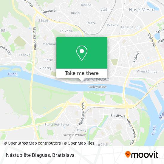 Nástupište Blaguss map