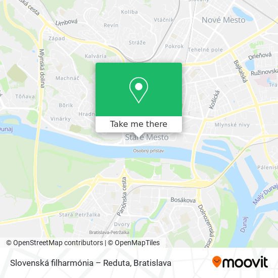 Slovenská filharmónia – Reduta map