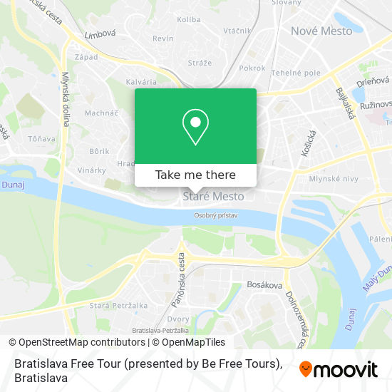 Bratislava Free Tour (presented by Be Free Tours) map