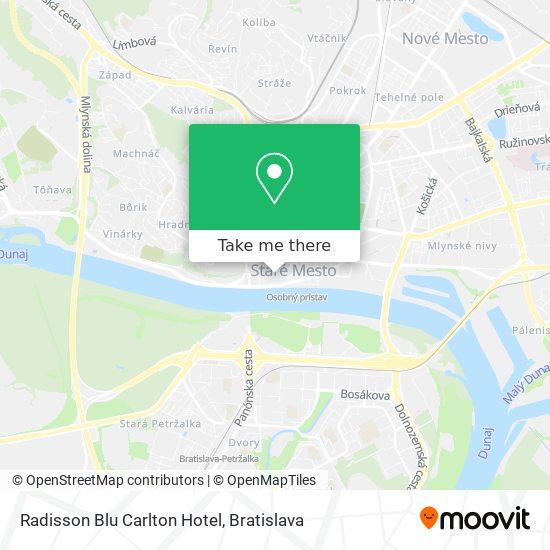 Radisson Blu Carlton Hotel mapa