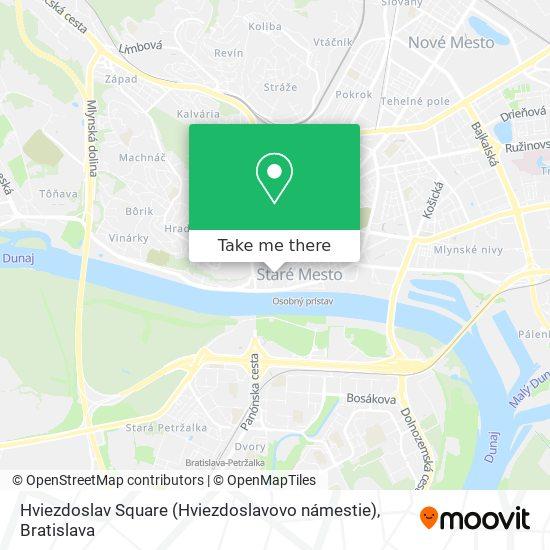 Hviezdoslav Square (Hviezdoslavovo námestie) map