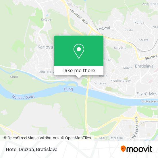 Hotel Družba map