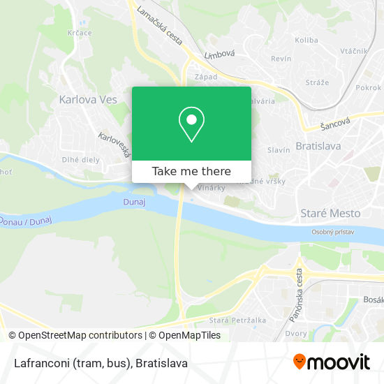 Lafranconi (tram, bus) map