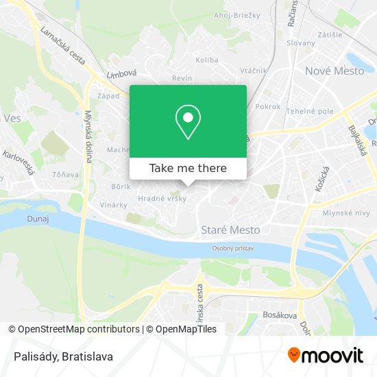 Palisády map
