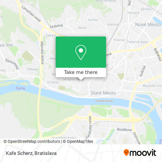 Kafe Scherz map