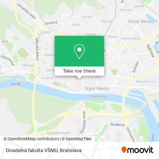 Divadelná fakulta VŠMU map