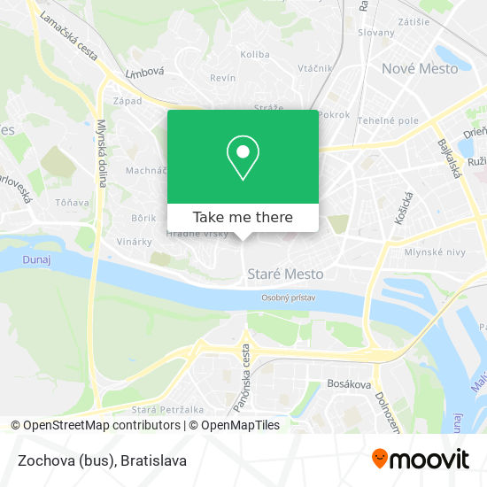 Zochova (bus) map
