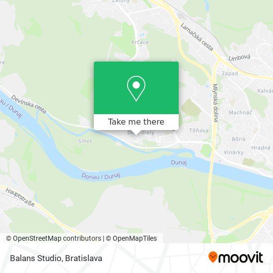Balans Studio map