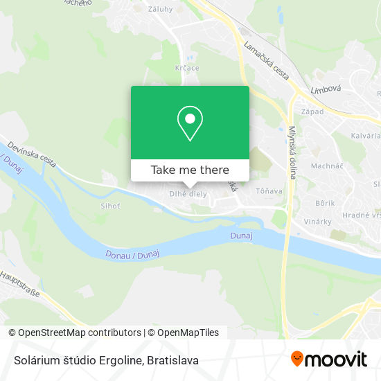 Solárium štúdio Ergoline map