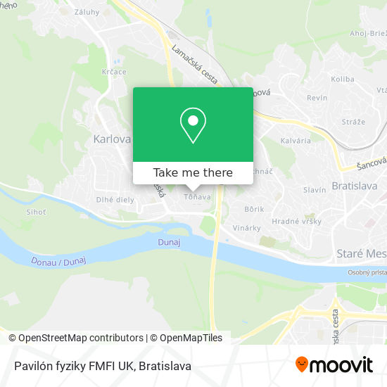 Pavilón fyziky FMFI UK map