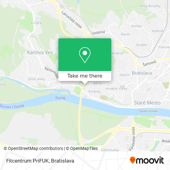 Fitcentrum PriFUK map