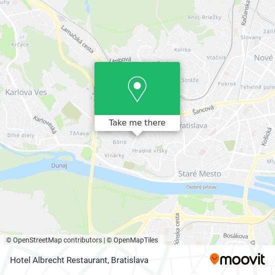 Hotel Albrecht Restaurant map