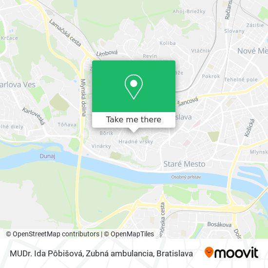 MUDr. Ida Pôbišová, Zubná ambulancia map