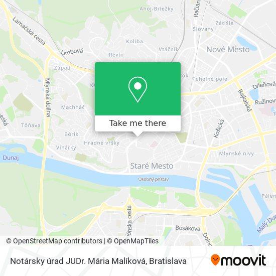 Notársky úrad JUDr. Mária Malíková map