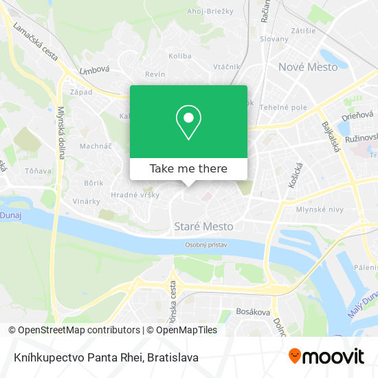 Kníhkupectvo Panta Rhei map
