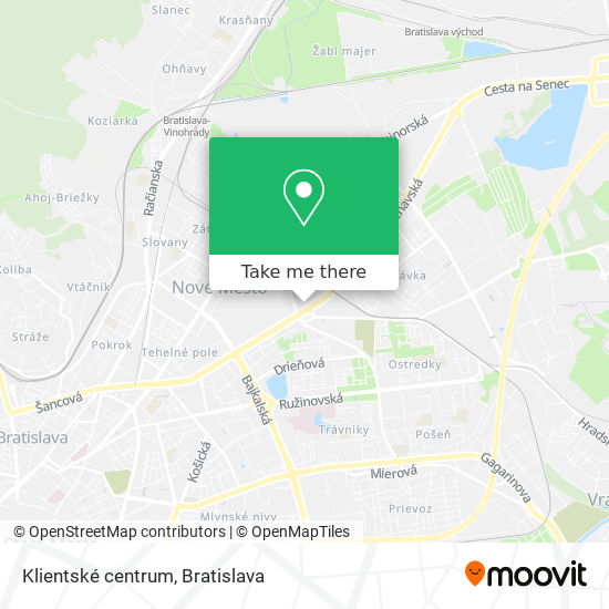Klientské centrum mapa